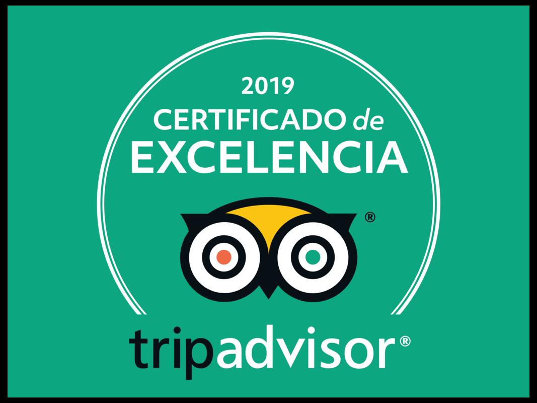 Certificado de excelencia 2019 | Trip Advisor
